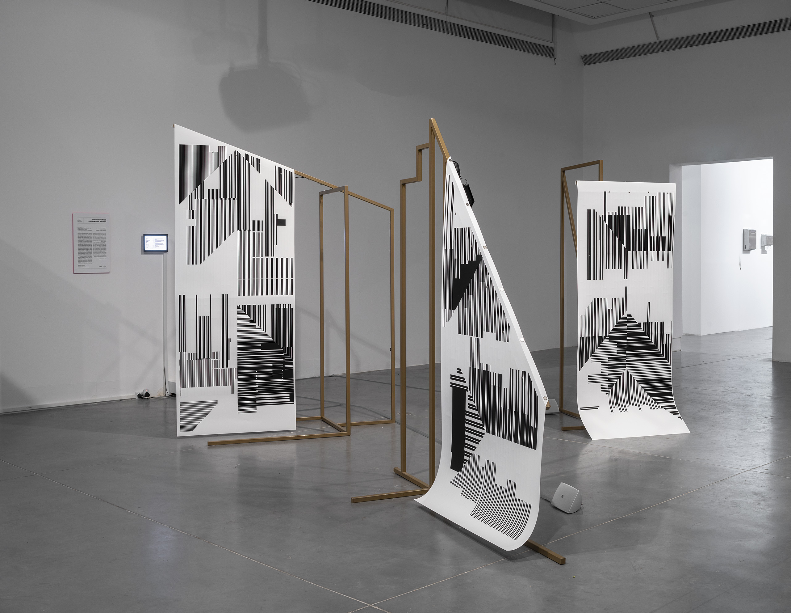 Temporarily Enslaved Gods, by Fabio Lattanzi Antinori, installation View at the Petach Tikva Museum