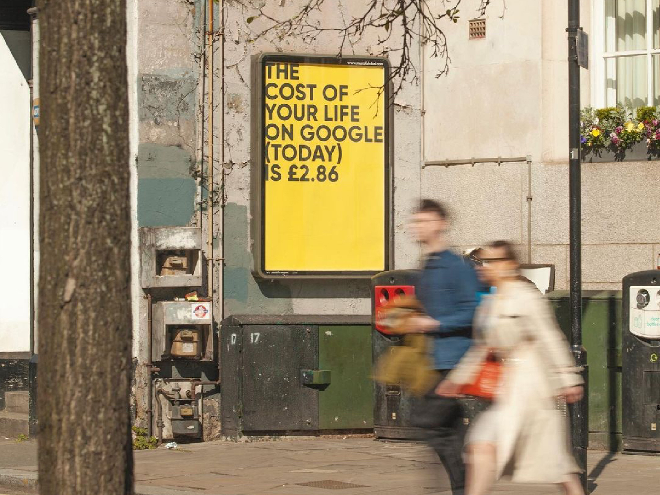 The Cost of Your Life on Google, by Fabio Lattanzi Antinori. Curated by Mustafa Hulusi. Old Street, London 2021;