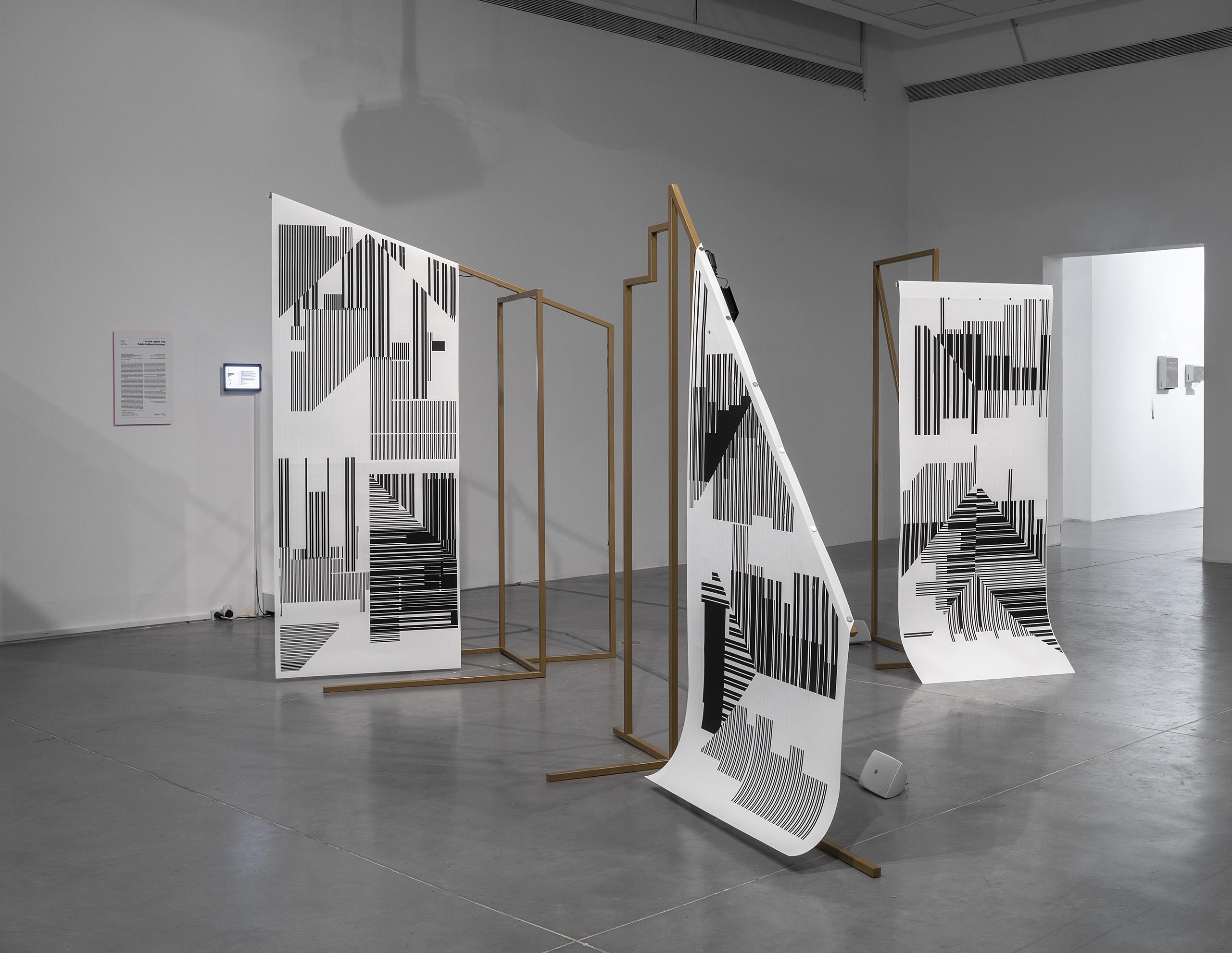 Temporarily Enslaved Gods, by Fabio Lattanzi Antinori, installation View at the Petach Tikva Museum